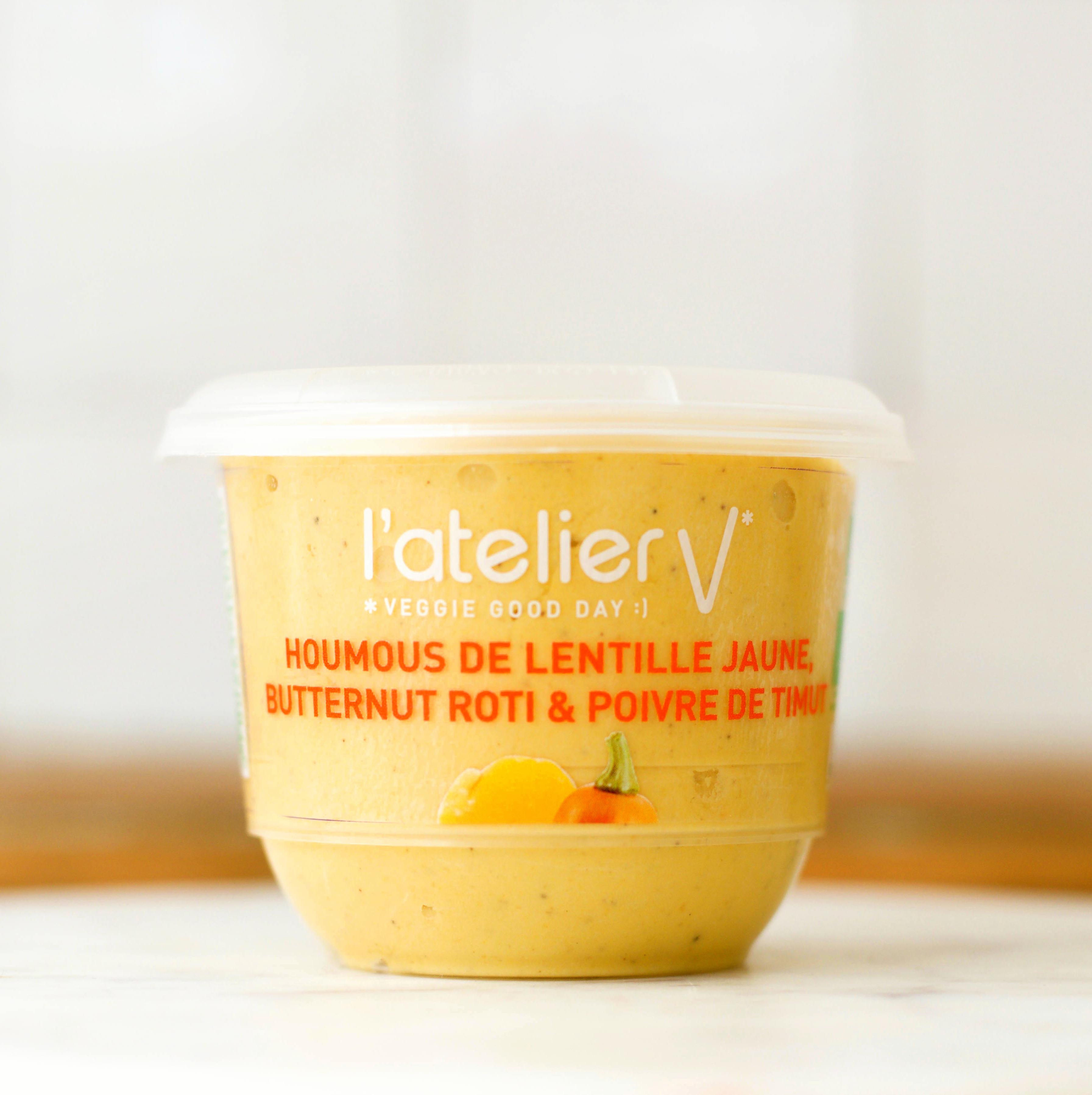 Houmous de lentille jaune, butternut rôtie et poivre de Timut